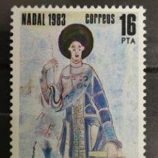 Sellos: ANDORRA ESPAÑOLA, NAVIDAD 1983 MNH (FOTOGRAFÍA REAL). Lote 205197152