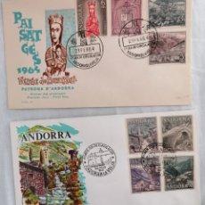 Sellos: ANDORRA ESPAÑOLA 1963-64 EDIFIL 60-67 SOBRE PRIMER DIA SPD. Lote 205253963