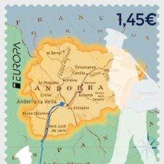 Sellos: SPANISH ANDORRA 2020 - EUROPA 2020 - ANCIENT POSTAL ROUTES MNH. Lote 207135888