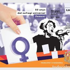 Sellos: SPANISH ANDORRA 2020 - 50 YEARS OF FEMALE UNIVERSAL SUFFRAGE - MINT - MINIATURE SHEET. Lote 207136032