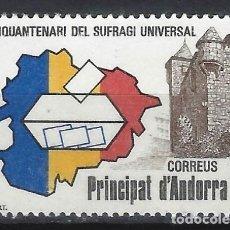 Sellos: ANDORRA 1983 - 50º ANIV. DEL SUFRAGIO UNIVERSAL - SELLO NUEVO **. Lote 210130997