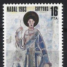 Sellos: ANDORRA 1983 - NAVIDAD, PINTURA ROMÁNICA - SELLO NUEVO **. Lote 210131461