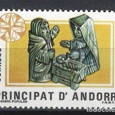 Sellos: ANDORRA 1984 - NAVIDAD, PESEBRE POPULAR - SELLO NUEVO **. Lote 210131835