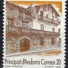 Sellos: ANDORRA 1990 - TURISMO, FACHADA DE LA CASA PLANDOLIT - SELLO NUEVO **. Lote 210132167