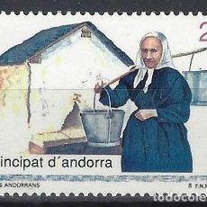 Sellos: ANDORRA 1992 - GENTE ANDORRANA, AGUADORA - SELLO NUEVO **. Lote 210132366