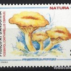Sellos: ANDORRA 1993 - FLORA, SETAS, ROSIÑOL - SELLO NUEVO **. Lote 210132592