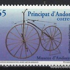 Sellos: ANDORRA 1997 - BICICLETAS ANTIGUAS, VELOCÍPEDO DE MICHAUX - SELLO NUEVO **. Lote 210133210