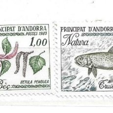 Sellos: 1983. PRINCIPADO DE ANDORRA. NATURALEZA. Lote 210666567