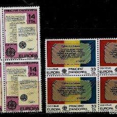 Sellos: ANDORRA - EUROPA - EDIFIL 157-58 - 1982 - BLOQUE DE CUATRO - NUEVOS. Lote 210954292