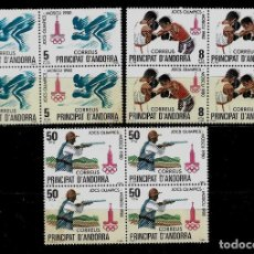 Sellos: ANDORRA - JUEGOS OLIMPICOS DE MOSCU - EDIFIL 135-137- 1980 - BLOQUE DE CUATRO - NUEVOS. Lote 210957709