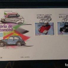 Sellos: SOBRE PRIMER DIA. ANDORRA ESPAÑOLA. HISTORIA DEL AUTOMOVIL.15 DE OCTUBRE DE 2004. EDIFÍL 319 Y 320.. Lote 211569951