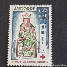 Sellos: ANDORRA FRANCESA, 1964, VIRGEN DE LOS REMEDIOS,CRUZ ROJA, EDIFIL 192*, YVERT 172* FIJAS, ( LOTE AV ). Lote 211594344