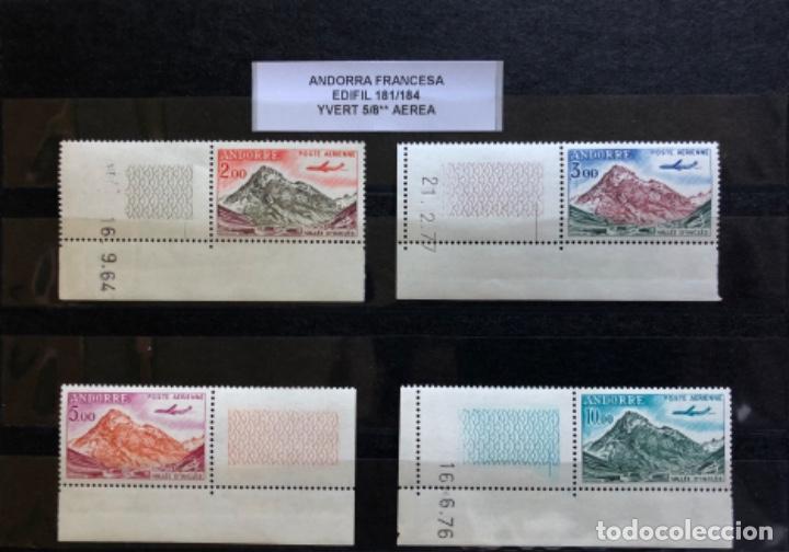 ANDORRA FRANCESA SELLOS NUEVOS, EDIFIL 181/184** YVERT 5/8** AÉREOS (Sellos - Extranjero - Europa - Andorra)