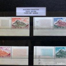 Sellos: ANDORRA FRANCESA SELLOS NUEVOS, EDIFIL 181/184** YVERT 5/8** AÉREOS. Lote 212591057
