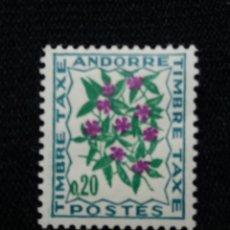 Sellos: ANDORRA, 0,20 CTS, FLORA, VIOLETA, AÑO 1964, SIN USAR.. Lote 213007311