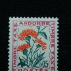 Sellos: ANDORRA, 0,05 CTS, FLORA, AMAPOLA, AÑO 1964, SIN USAR.. Lote 213007473