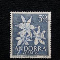Sellos: ANDORRA, 0,50 CTS, FLORA, AÑO 1966, SIN USAR.. Lote 213386685
