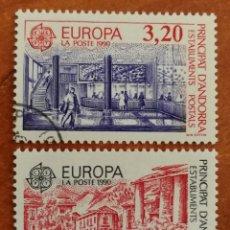Timbres: ANDORRA FRANCESA, EUROPA CEPT 1990 USADOS (FOTOGRAFÍA REAL). Lote 213727997