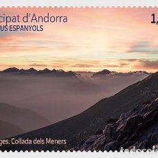 Sellos: SPANISH ANDORRA 2020 - LANDSCAPES - COLLADA DELS MENERS MNH. Lote 214213853