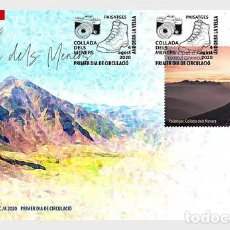 Sellos: SPANISH ANDORRA 2020 - LANDSCAPES - COLLADA DELS MENERS FDC. Lote 214213961