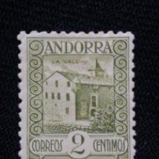 Sellos: PRINCIPADO ANDORRA, ESPAÑA, 2 CTS, PAISAJES, AÑO 1929.. Lote 216899725