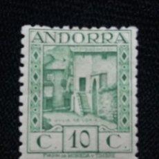 Sellos: PRINCIPADO ANDORRA, ESPAÑA, 10 CTS, PAISAJES, AÑO 1929.. Lote 216900287