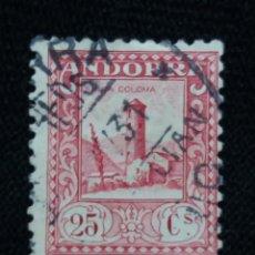 Sellos: PRINCIPADO ANDORRA, ESPAÑA, 25 CTS, PAISAJES, AÑO 1929.. Lote 216900662