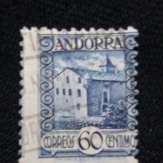 Sellos: PRINCIPADO ANDORRA, ESPAÑA, 60 CTS, PAISAJES, AÑO 1935.. Lote 216901857