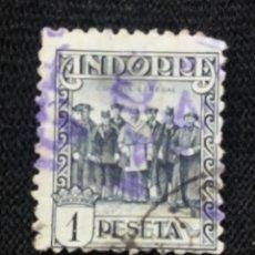 Sellos: PRINCIPADO ANDORRA, ESPAÑA, 1 PTA, AÑO 1929.. Lote 216902241