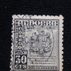 Sellos: PRINCIPADO ANDORRA, ESPAÑA, 30 CTS, AÑO 1948.. Lote 216903120