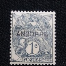 Sellos: PRINCIPADO ANDORRA, FRANCIA, 1C, SOBREESCRITO, AÑO 1931.. Lote 216904618