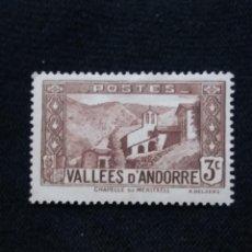 Sellos: ANDORRA, FRANCIA, 3C, VALLES, AÑO 1931. SIN USAR. Lote 216905557