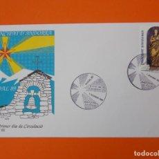 Sellos: NAVIDAD, NADAL 89 - ANDORRA LA VELLA - MATASELLO 1989 - SOBRE PRIMER DIA DE CIRCULACION ... L1843. Lote 218624616