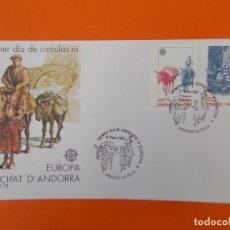 Sellos: EUROPA - ANDORRA LA VELLA - MATASELLO 1988 - SOBRE PRIMER DIA DE CIRCULACION ... L1848. Lote 218625586