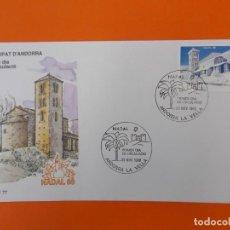 Sellos: NAVIDAD, NADAL 88 - ANDORRA - MATASELLO 1988 - SOBRE PRIMER DIA DE CIRCULACION ... L1849. Lote 218627401