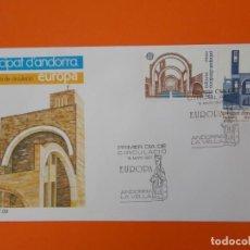 Sellos: EUROPA - ANDORRA - SERIE COMPLETA - MATASELLO 1987 - SOBRE PRIMER DIA DE CIRCULACION .. L1853. Lote 218628100