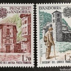 Sellos: ANDORRA TEMA EUROPA CEPT AÑO 1979 MNH (FOTOGRAFÍA REAL). Lote 218641888