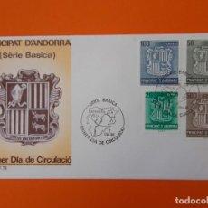 Sellos: COPRINCEPS EPISCOPALS - ANDORRA - MATASELLO 1986 - SOBRE PRIMER DIA DE CIRCULACION .. L1857. Lote 218672296