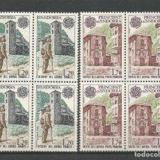 Sellos: SELLOS DE ANDORRA FRANCESA AÑO 1979. SERIE Nº 276/277 BLOQUE DE 4. CATÁLOGO YVERT. NUEVA. Lote 221976692