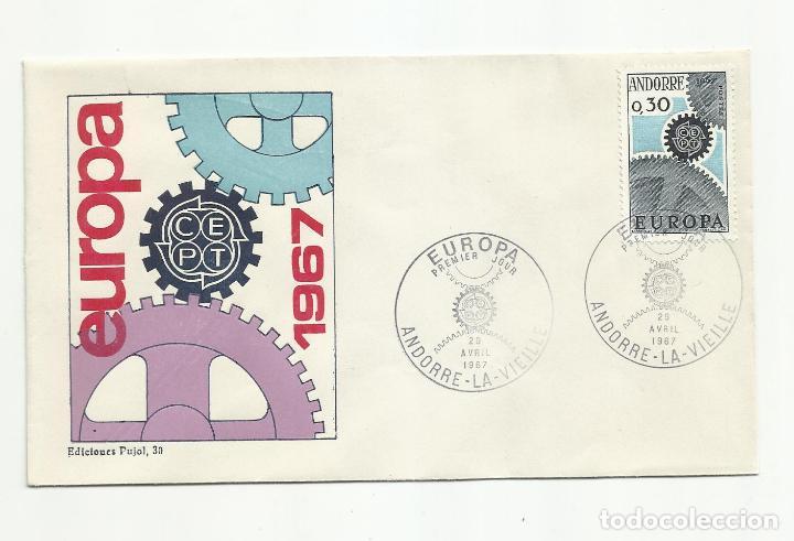 Sellos: 2 SPD ANDORRA FRANCESA EUROPA 1967 SERIE COMPLETA EN 2 SOBRES VER FOTO - Foto 2 - 222135715