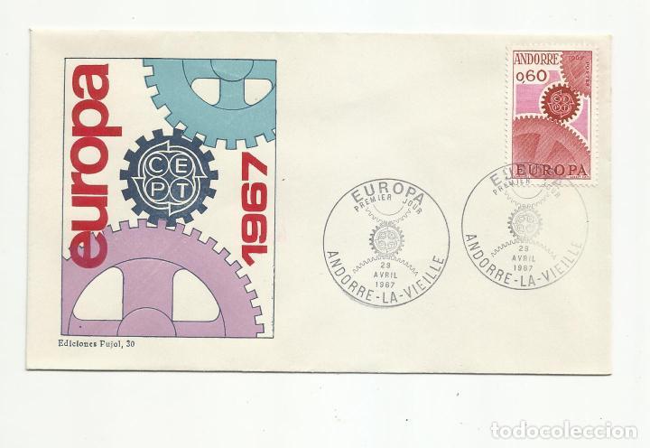 2 SPD ANDORRA FRANCESA EUROPA 1967 SERIE COMPLETA EN 2 SOBRES VER FOTO (Sellos - Extranjero - Europa - Andorra)