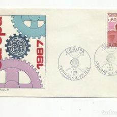 Sellos: 2 SPD ANDORRA FRANCESA EUROPA 1967 SERIE COMPLETA EN 2 SOBRES VER FOTO. Lote 222135715