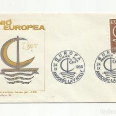 Sellos: SPD ANDORRA FRANCESA EUROPA 1966 SERIE COMPLETA. Lote 222136051