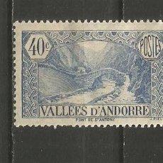 Timbres: ANDORRA FRANCESA YVERT NUM. 33 * NUEVO CON FIJASELLOS. Lote 222832900