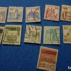 Sellos: CONJUNTO DE 13 SELLOS DE ARQUITECTURA DE LA REPÚBLICA F. ALEMANA 1966. Lote 223416030
