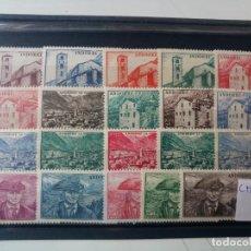 Sellos: ANDORRA FRANCESA SERIE COMPLETA DEL AÑO 1944 YBERT 100/118 EN NUEVO** -- CON CHARNELA --. Lote 226496175