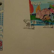 Sellos: SOBRE DE PRIMER DIA, ANDORRA 2008. EXPO ZARAGOZA. FLUVI LA SERIE. 13 JUNIO 2008.. Lote 228795680