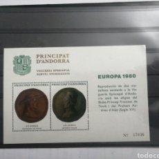 Sellos: BLOQUE DE PRINCIPADO DE ANDORRA, 1980.. Lote 230083795