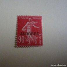 Sellos: ANDORRA-ANDORRE 1931, SELLOS DE FRANCIA SOBRECARGADOS, ANFIL Nº 12*, FIJASELLOS. Lote 231967565