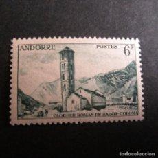 Timbres: ANDORRA 1955-1958, ANFIL. Nº 142*, PAISAJES. FIJASELLOS. Lote 233845125